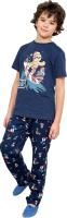 Пижама детская Mark Formelle 563319 (р.128-64, синий/олени на синем) -