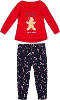 Пижама детская Mark Formelle 567720 (р.104-56, красный/карамельки на синем) -