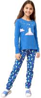 Пижама детская Mark Formelle 567720 (р.104-56, синий/зайки на синем) -