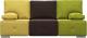 Диван Woodcraft Фанки (шоколадный велюр/горчичный велюр/зеленый велюр) -