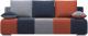 Диван Woodcraft Плей Пэчворк (светло-серый велюр/темно-синий велюр/оранж. велюр) -