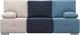 Диван Woodcraft Фанки (т.-синий велюр/светлый велюр/голубой велюр) -