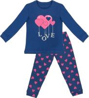 Пижама детская Mark Formelle 567722 (р.104-56, темно-синий/сердечки на темно-синем) -