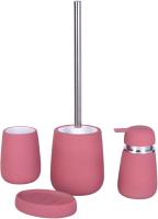 Набор аксессуаров для ванной и туалета АкваЛиния Soft B4333A/1 (мокачино) -