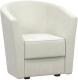 Кресло мягкое Woodcraft Лацио (белый бархат) -