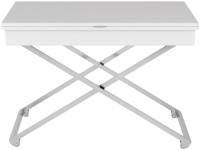 Стол-трансформер Калифорния мебель Андрэ Хром  (белый) -