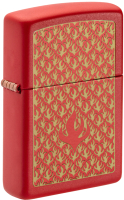Зажигалка Zippo Flame Pattern / 49573 (красный матовый) -