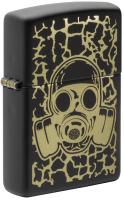Зажигалка Zippo Skull Gas Mask / 49574 (черный матовый) -