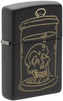 Зажигалка Zippo Skull Design / 49575 (черный матовый) -