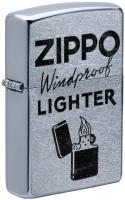 Зажигалка Zippo Windproof / 49592 (серебристый матовый) -