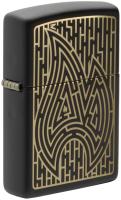 Зажигалка Zippo Maze / 49597 (черный матовый) -
