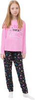Пижама детская Mark Formelle 567726 (р.98-52, розовый/маски на графите) -