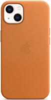 Чехол-накладка Apple Leather Case With MagSafe для iPhone 13 / MM103 (Golden Brown) -