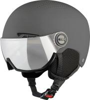 Шлем горнолыжный Alpina Sports 2021-22 Arber Visor / A9228-31 (р-р 54-58, матовый серый) -