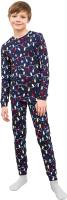 Пижама детская Mark Formelle 563317 (р.104-56, синий в гирлянды) -