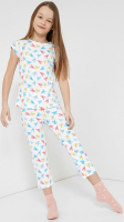 Пижама детская Mark Formelle 567709 (р.104-56, сердечки на белом) -