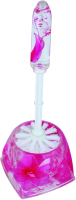 Ершик для унитаза АкваЛиния Розовый цветы A8762S-1_S14 -