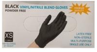 Перчатки одноразовые Wally Plastic  (XS, 100шт, черный) -