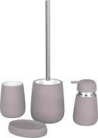 Набор аксессуаров для ванной и туалета АкваЛиния Soft B4333A/1 (серый) -