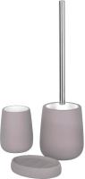 Набор аксессуаров для ванной и туалета АкваЛиния Soft B4333A/3 (серый) -