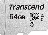 Карта памяти Transcend microSDXC 300S 64GB Class 10 UHS-I U1 (TS64GUSD300S-A) -