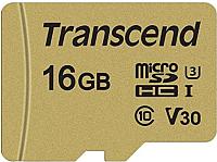 Карта памяти Transcend microSDHC 500S 16GB Class 10 UHS-I U3 (TS16GUSD500S) -