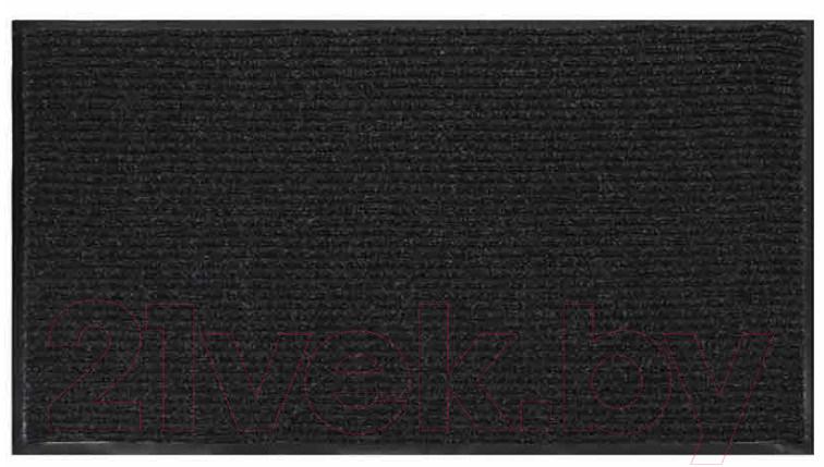 Купить Коврик грязезащитный No Brand, Ребристый 60x90 (черный/серый), Россия
