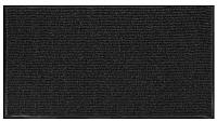 Коврик грязезащитный No Brand Ребристый 80x120 (черный/серый) -