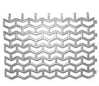 Коврик грязезащитный No Brand Пила мини 61x43 (серебристый) -