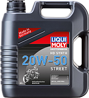 Моторное масло Liqui Moly Motorbike HD Synth Street 20W50 / 3817 (4л) -