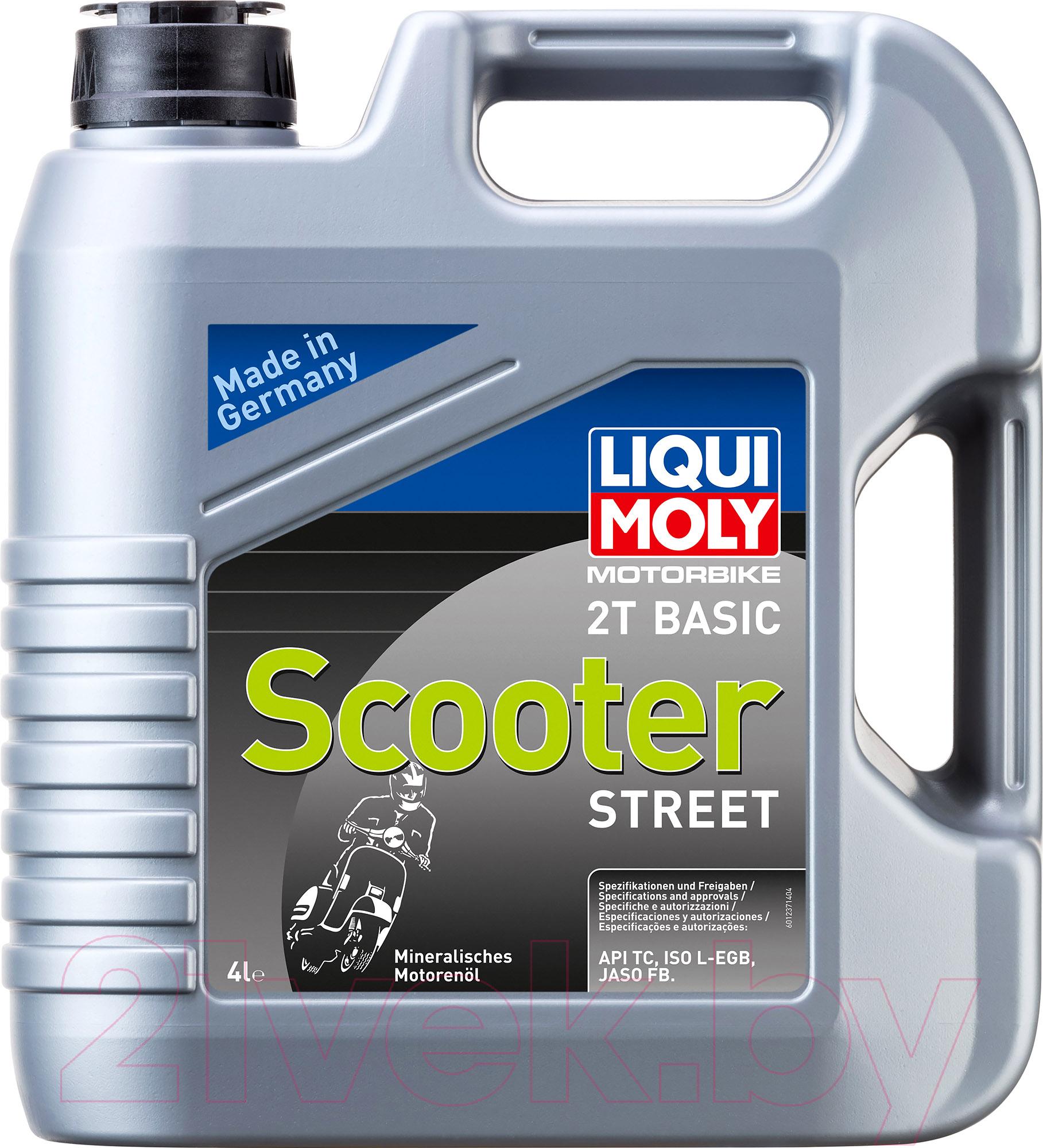 Купить Моторное масло Liqui Moly, Motorbike 2T Basic Scooter Street / 1237 (4л), Германия