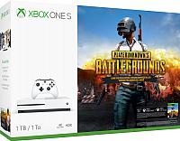 Игровая приставка Microsoft Xbox One S 1ТБ + геймпад + PUBG код + XboxLiveGold + Game Pass (на 1мес) -