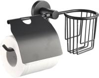 Держатель для туалетной бумаги Raindrops Black 20545 -