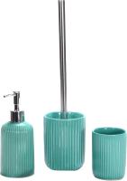Набор аксессуаров для ванной и туалета АкваЛиния Плиссе CE1610B/2 (бирюзовый) -