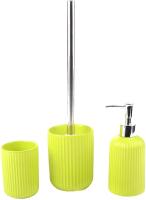 Набор аксессуаров для ванной и туалета АкваЛиния Плиссе CE1610JA/2 (лайм матовый) -