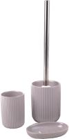 Набор аксессуаров для ванной и туалета АкваЛиния Плиссе CE1610SA/3 (серый матовый) -