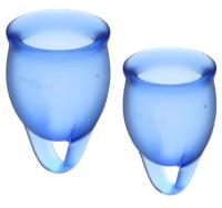 Набор менструальных чаш Satisfyer Feel Confident / J1762-6 (синий) -