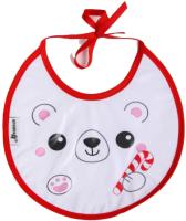 Нагрудник детский Крошка Я Белый мишка / 6849751 -