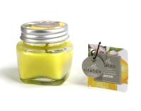 Свеча Ad Trend Лимонный в баночке / 40475i3 (5.5х5.5см ) -