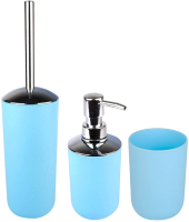 Набор аксессуаров для ванной и туалета АкваЛиния Муар PP0328C/2 (голубой) -