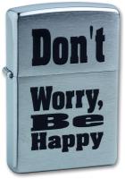 Зажигалка Zippo Don`t Worry / 200 (серебристый) -