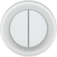 Умный выключатель DeLUMO Ronda 9003 двухканальный клавишный (натуральный белый) -