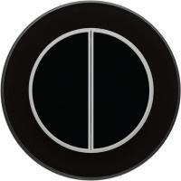 Умный выключатель DeLUMO Ronda 9005 двухканальный клавишный (классический черный) -