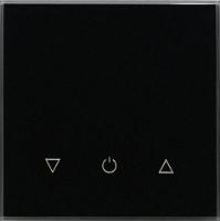 Умный выключатель DeLUMO Senso 9005 одноканальный сенсорный трехклавишный (классический черный) -