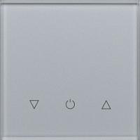 Умный выключатель DeLUMO Senso 9006 одноканальный сенсорный трехклавишный (серый металлик) -