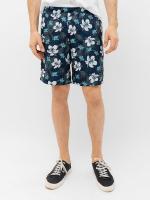 Шорты спортивные Mark Formelle 131029 (р.90-182, гавайские цветы на темно-синем) -