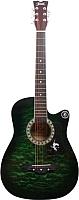 Акустическая гитара Jervis JG-381C/GR (зеленый) -