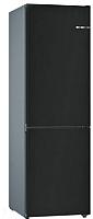Холодильник с морозильником Bosch KGN39IJ31R (черный матовый) -