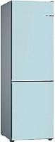 Холодильник с морозильником Bosch KGN39IJ31R (небесно-голубой) -