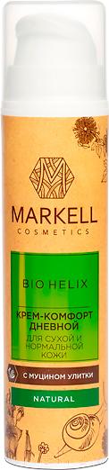 Купить Крем для лица Markell, Bio-Helix с муцином улитки для сухой и нормальной кожи дневной (50мл), Беларусь, Bio Helix (Markell)